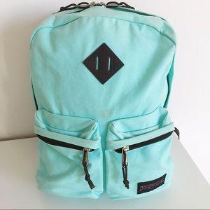Aqua Blue Jansport Backpack